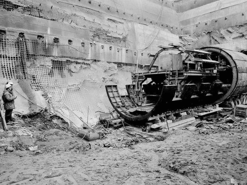 Výstavba metra – Palmovka (1982)